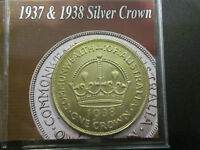 AUSTRALIAN 1938 CROWN IN 2X2 FOLDER UNC  GREAT INVESTMENT FO