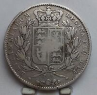 1845 GREAT BRITAIN SILVER CROWN COIN V G