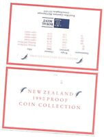 1990 NEW ZEALAND 6 COIN C.O.A. DOCUMENT NO COINS