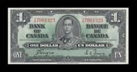 1937 BANK OF CANADA KGVI $1   COYNE & TOWERS      EF