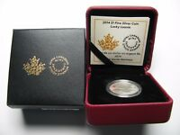 2014 PROOF $1 LUCKY LOONIE 6 LOON CANADA OLYMPICS .9999 SILVER ONE DOLLAR