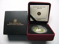 2010 PROOF $20 PAINTED WILDFLOWER 1 WATER LILY CRYSTAL DEWDROPS CANADA .9999 SI