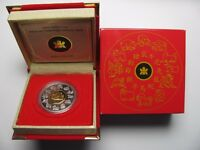 2009 PROOF $15 CHINESE CALENDAR 12 YEAR OX FIFTEEN DOLLARS .925 SILVER W/ GOLD