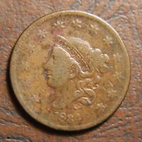 1834 CORONET HEAD LARGE CENT N 6 LARGE 8 LARGE STARS LARGE LETTERS