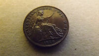 FARTHING 1826 A/UNC VARIETY NECK TO CHIN CUD