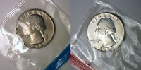 1968 P & D WASHINGTON QUARTER TWO COINS FROM US MINT UNCIRCULATED SET BU CELLO