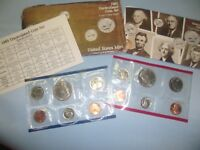 1985 US MINT UNCIRCULATED COIN SET D & P MINT MARKS