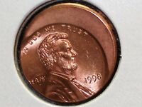 1998 OFF CENTER LINCOLN HEAD CENT