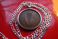 2 1928 IRISH ANTIQUE LUCKY PENNY PENDANT ON A 20
