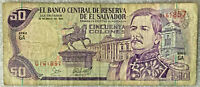 EL SALVADOR NOTE 50 COLONES  26 MAY 95 GERARDO BARRIOS DESIGN SERIE GA
