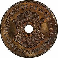 NEW GUINEA PENNY 1936 UNCIRCULATED   TONED