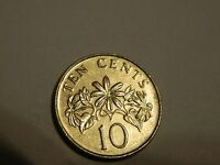 2007 SINGAPORE 10 CENTS CIRCULATED   LOT 786