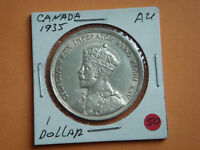 1935 CANADIAN SILVER DOLLAR HIGH GRADE.