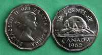 1962 SINGLE CANADIAN QUEEN ELIZABETH 12 SIDED NICKEL 5 CENT BU