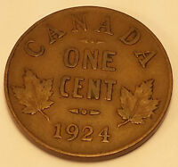 1924 KEY DATE CANADA 1 CENT VF/EF CONDITION N211