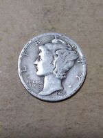 1935 S 10C MERCURY DIME  90   SILVER US COIN  ME934 OLD  TUCK