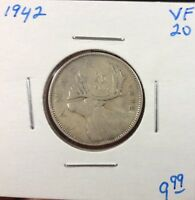 1942 25C CANADA 25 CENTS