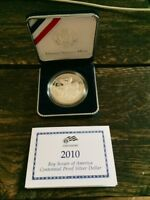 2010 BOY SCOUTS OF AMERICA CENTENNIAL PROOF  SILVER DOLLAR