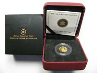2010 PROOF 50 CENTS GML 7 RCMP MOUNTED POLICE MOUNTIE 1/25OZ .9999 GOLD CANADA