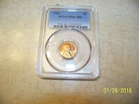 1948 LINCOLN CENT PCGS MINT STATE 66 RED