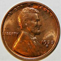 1935-S LINCOLN, WHEAT EARS  PENNY, UNC LC25