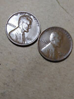 LOT OF 2 1931 P-D LINCOLN WHEAT CENT PENNY  LH223  OLD