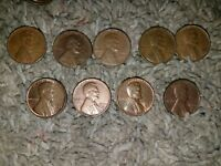 LOT OF 1950 1958 WHEAT LINCOLN PENNIES. 10 FOR .99 CENTS