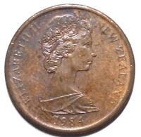 1984 1 CENT NEW ZEALAND COIN