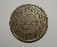 CANADA EXCELLENT 1859 ONE 1 CENT DP N92 VARIETY COIN HIGH GRADE