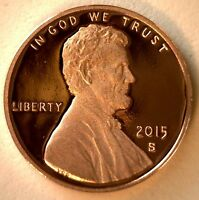 2015 PROOF UNION SHIELD LINCOLN ONE CENT PENNY COIN US SAN FRANCISCO MINT
