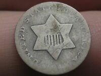 1851 THREE 3 CENT SILVER-  TYPE COIN