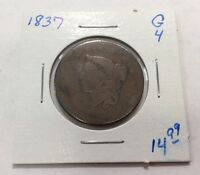 1837 LARGE CENT IN GOOD CONDITION