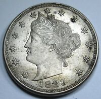 1883 BU TONED NO CENTS LIBERTY V NICKEL RACKATEER US ANTIQUE CURRENCY MONEY COIN