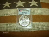 2017 SILVER EAGLE MS70 BULLION COIN FIRST STRIKCOIN PICTURED IS COIN U RECEIVE
