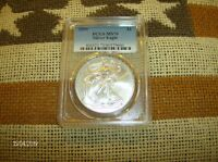 2009 SILVER EAGLE MS70 PCGS COIN PICTURED IS COIN YOU WILL RECEIVE L@@@@K