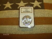 1988 SILVER EAGLE MINT STATE 69 NGC TRADITIONAL BROWN LABEL ABSOLUTE BEAUTIFUL COIN