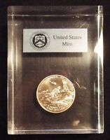 US MINT 1991 WWII 50TH ANNIVERSARY CLAD HALF DOLLAR LUCITE ACRYLIC PAPERWEIGHT
