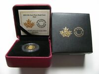 2015 PROOF 50 CENTS 1/25OZ .9999 GOLD COMMEMORATIVE 10 OWL CANADA FIFTY