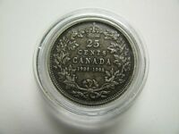 1908 1998 MATTE PROOF 25 CENTS FROM RCM 90TH ANN SET .925 SILVER CANADA QUARTER