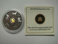 2010 PROOF $8 MAPLE OF STRENGTH HOLOGRAM CANADA .925 SILVER COIN&COA ONLY EIGHT