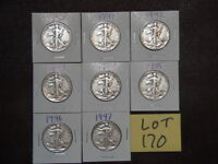 8- LIBERTY HALF DOLLARS - ONE OF EACH YEAR 1940S, YOUR CHOICE OF 6 LOTS. B-23