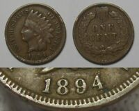 1894 DOUBLED DATE INDIAN HEAD CENT NICE DETAILS COIN RIM NICKS
