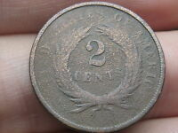1868 TWO 2 CENT PIECE- CIVIL WAR TYPE COIN, DUG?