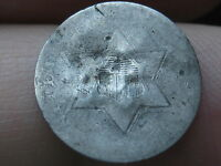 1854 1858 THREE 3 CENT SILVER TRIME
