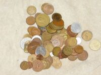 JUNK DRAWER LOT FOREIGN COIN LOT GRAB BAG LOT OF 30