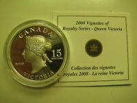 2008 PROOF $15 VIGNETTES 1 VICTORIA ULTRA HIGH RELIEF UHR COIN&COA ONLY CANADA