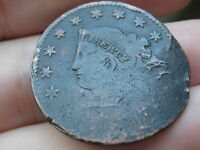 1831 MATRON HEAD LARGE CENT PENNY  LARGE LETTERS