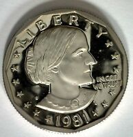 1981 S PROOF SUSAN B ANTHONY DOLLAR COIN SBA 1981 US MINT ONE DOLLAR $1 COIN