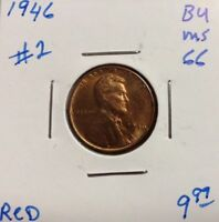 1946 1C RD LINCOLN CENT
