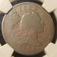 1795 CAPPED LIBERTY LARGE CENT, S-77, R-3, PLAIN EDGE, VG-8